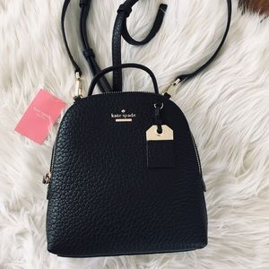 Kate Spade black mini backpack